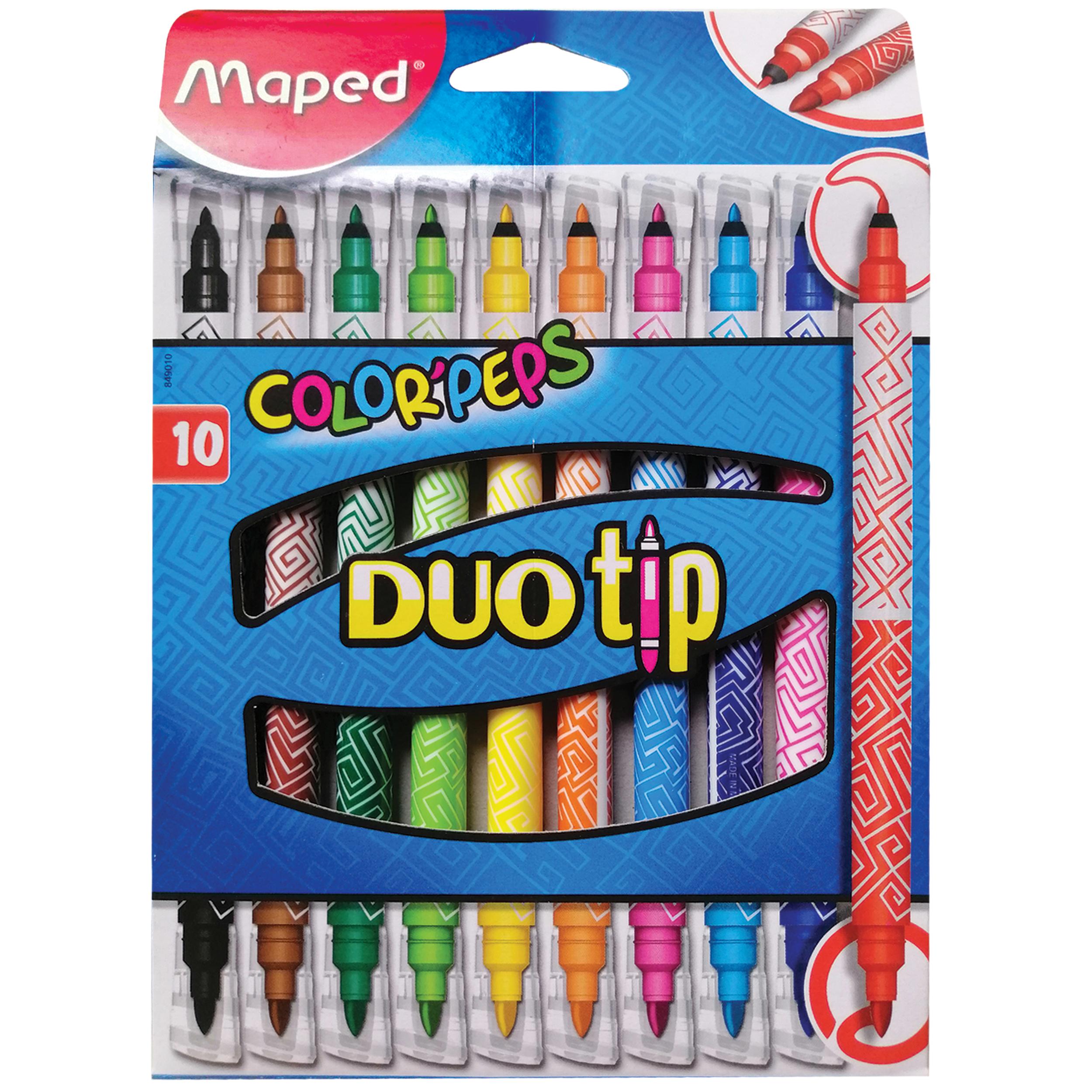 ماژیک رنگ آمیزی 10 رنگ مپد مدل Color Peps کد DUO tip
