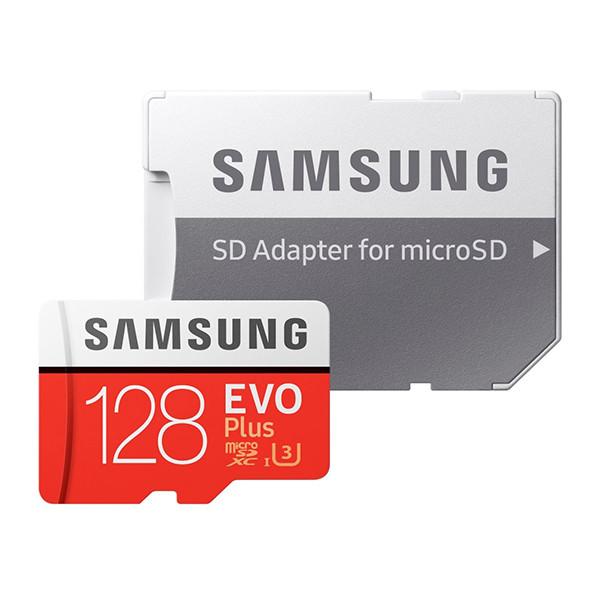 کارت حافظه microSDXC سامسونگ مدل Evo Plus کلاس 10 استاندارد UHS-I U3 سرعت 100MBps ظرفیت 128 گیگابایت به همراه آداپتور SD