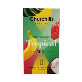 کاندوم چرچیلز مدل Natural Classic Tropical بسته 12 عددی