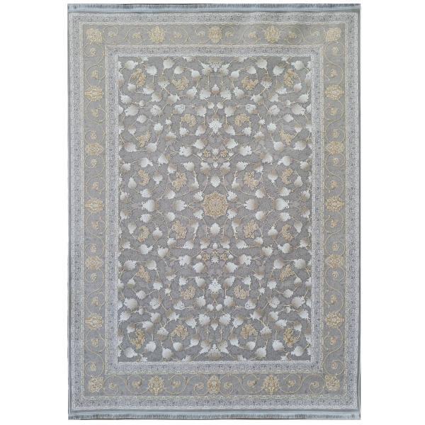 فرش ماشینی ستاره کوروش کاشان طرح آوین زمینه نقره ای