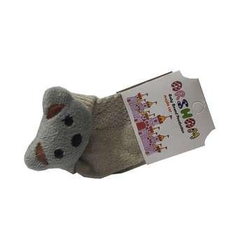 جوراب نوزادی مدل گربه کوچولو