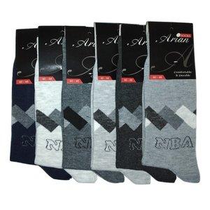 جوراب مردانه آرین مدل ۷ مجموعه ۶ عددی