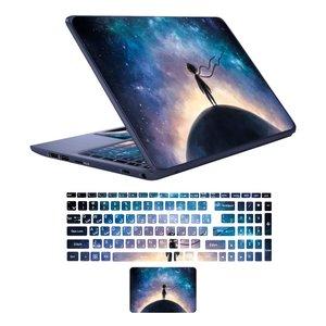 استیکر لپ تاپ طرح شازده کوچولو کد 01 مناسب برای لپ تاپ های 15 تا 17 اینچی به همراه برچسب حروف فارسی کیبورد