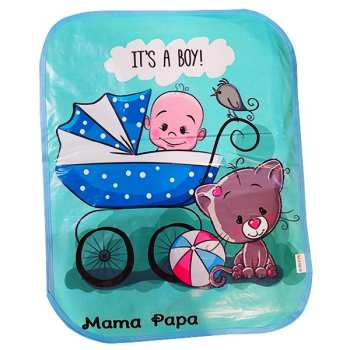 زیرانداز تعویض نوزاد ماما پاپا طرح پسربچه کد 259