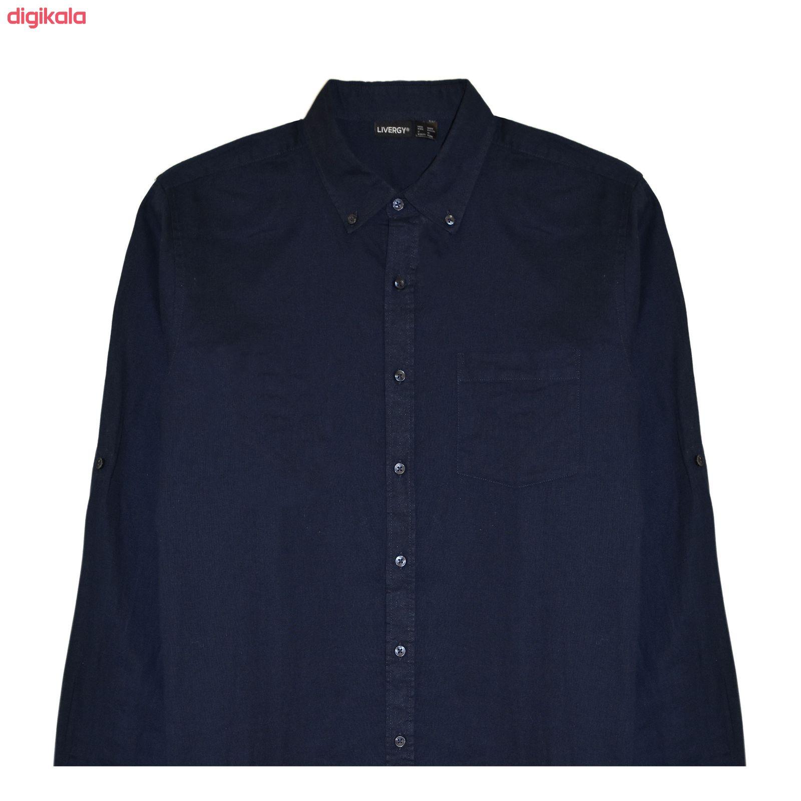 پیراهن آستین بلند مردانه لیورجی مدل 3257641 main 1 1