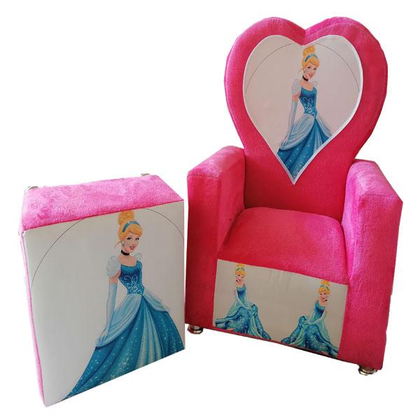 ست میز و صندلی کودک مدل سیندرلا طرح قلبی