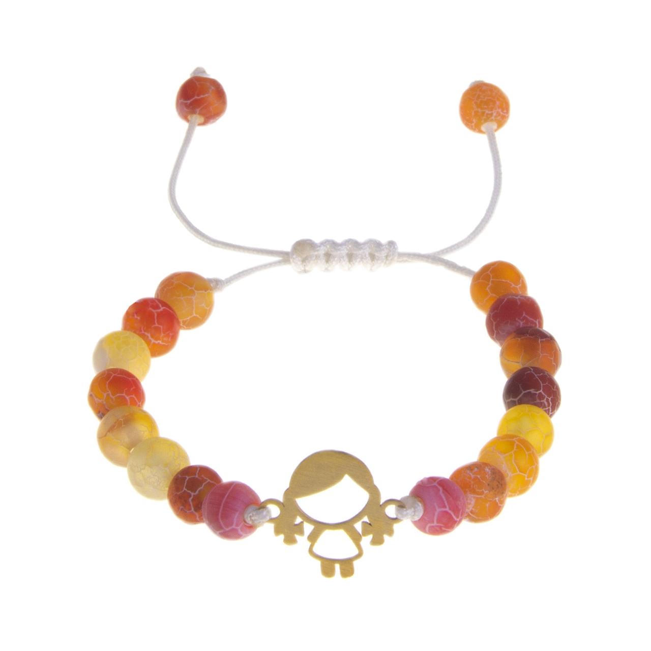 دستبند طلا 18 عیار دخترانه کد 67059