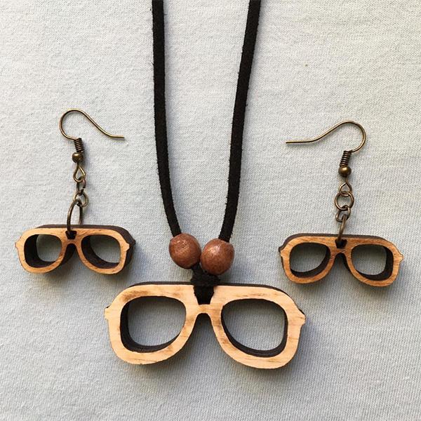 نیم ست زنانه طرح عینک کد 240