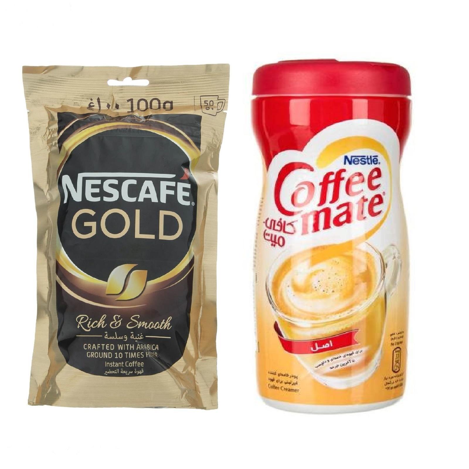 قهوه فوری نسکافه گلد - 100 گرم به همراه کافی میت نستله - 400 گرم
