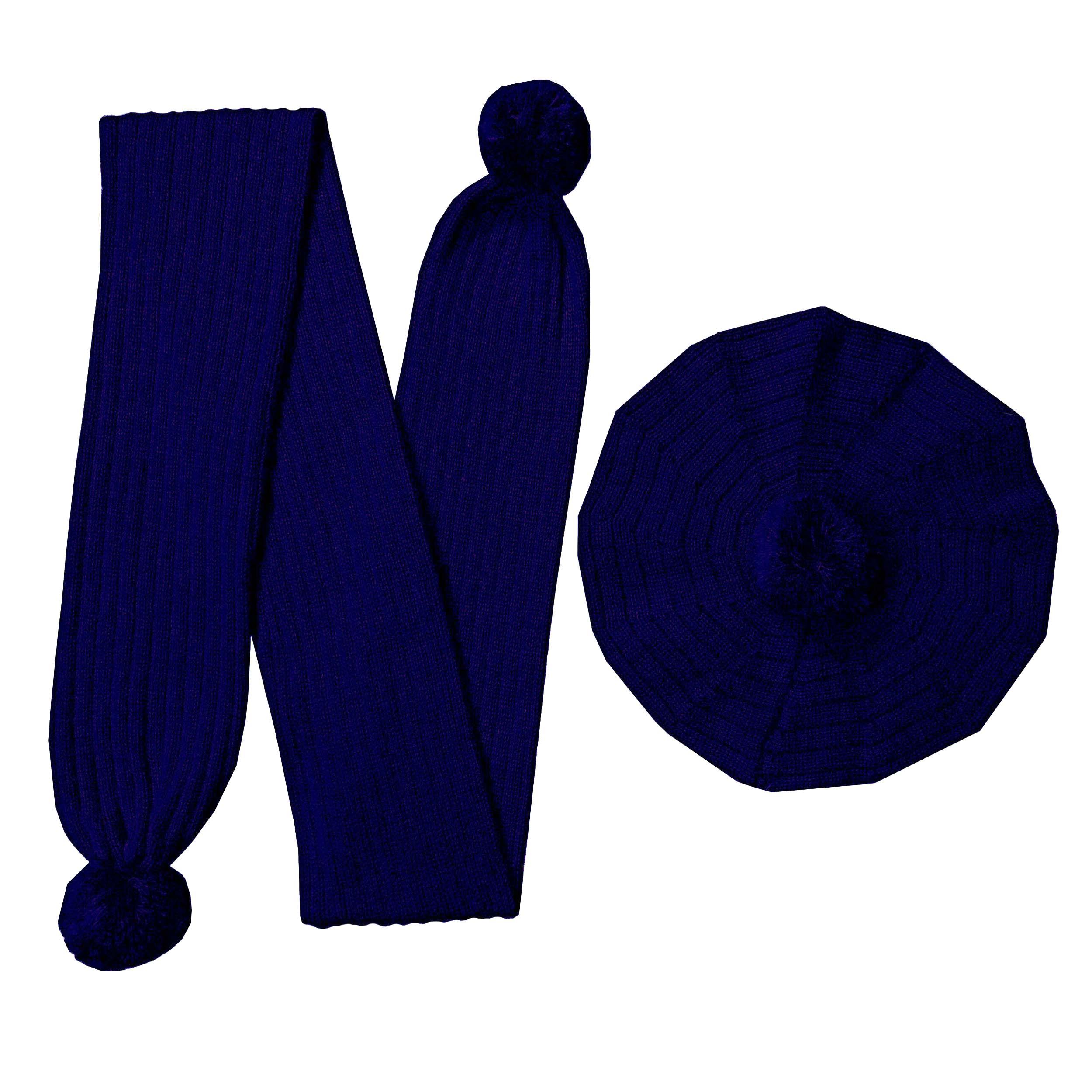 ست کلاه و شال گردن بافتنی بچگانه کد N9