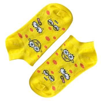 جوراب بچگانه تن پوش هنگامه مدل باب اسفنجی خال خالی کد Z-002