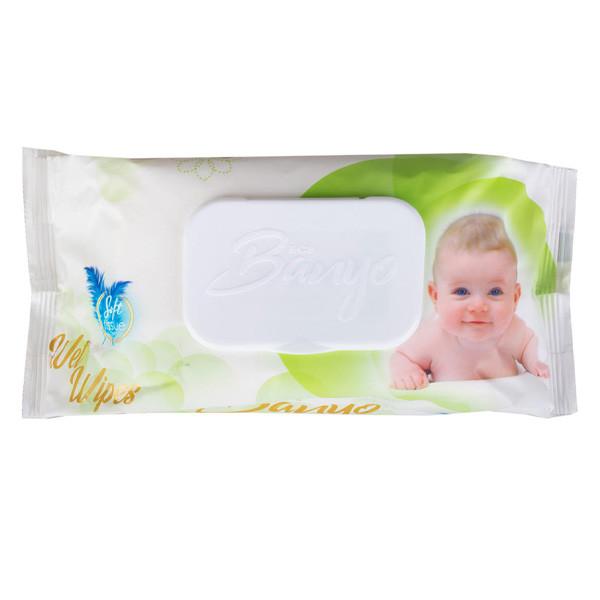 دستمال مرطوب کودک بانیو مدل 01 بسته 120 عددی