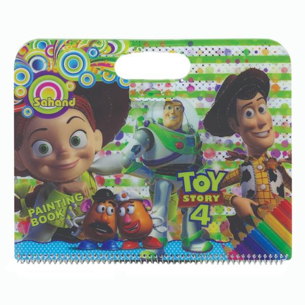 دفتر نقاشی 50 برگ سهند طرح اسباب بازی ها کد 11765D1