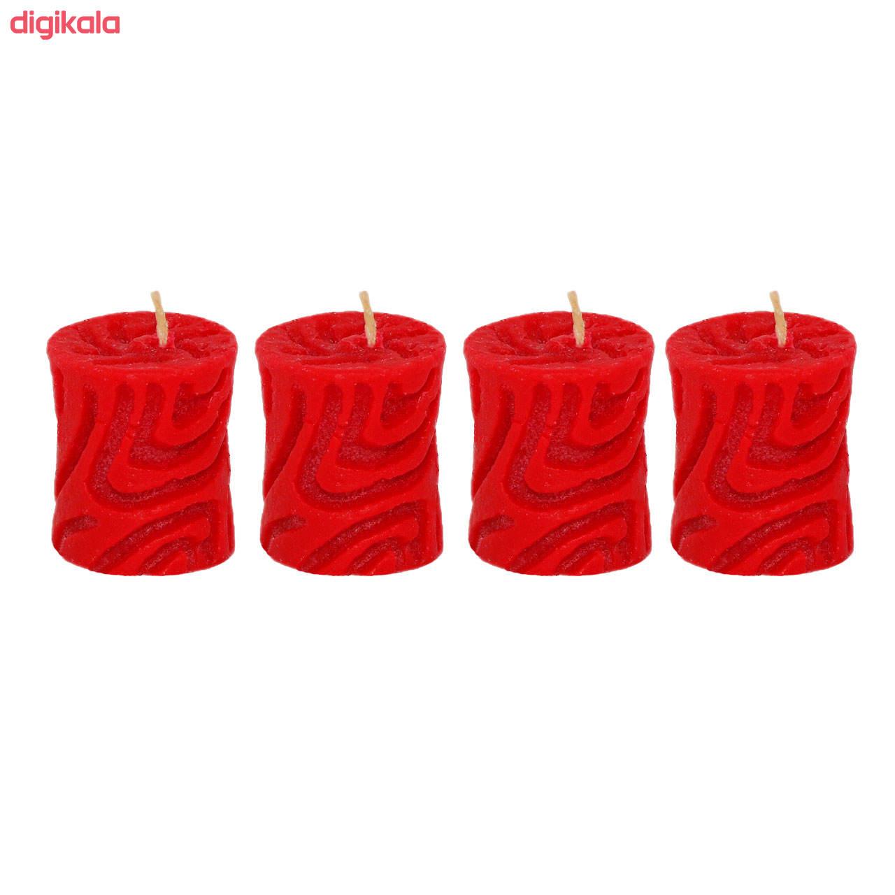 شمع مدل استوانه کد T4 مجموعه 4 عددی main 1 1