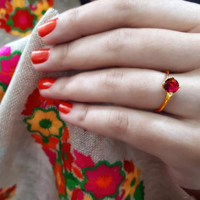 انگشتر نقره زنانه کد R182PrGo