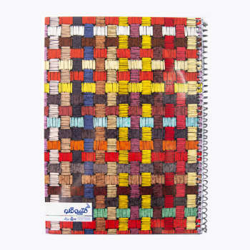 دفتر مشق 50 برگ کتیبه قلم مدل رنگارنگ کد AR254