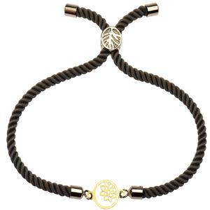 دستبند طلا 18 عیار دخترانه کرابو طرح گل و ستاره مدل Krd1145