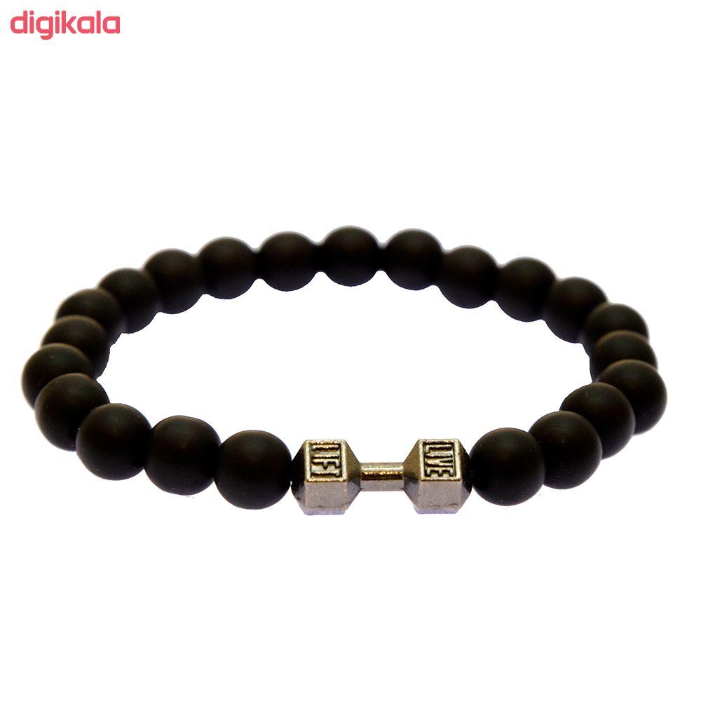 دستبند مردانه مدل دمبل B24 main 1 1