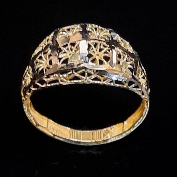 انگشتر طلا 18 عیار زنانه گالری یارطلا مدل فیوژن کد ANF30