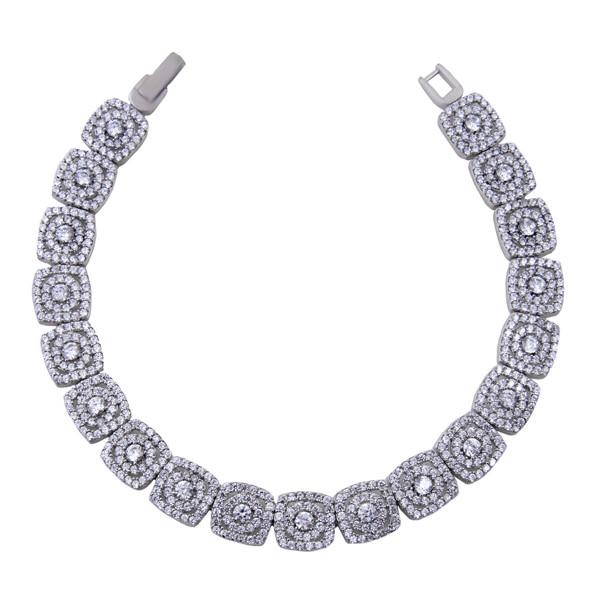 دستبند نقره زنانه بازرگانی میلادی کد DP_044