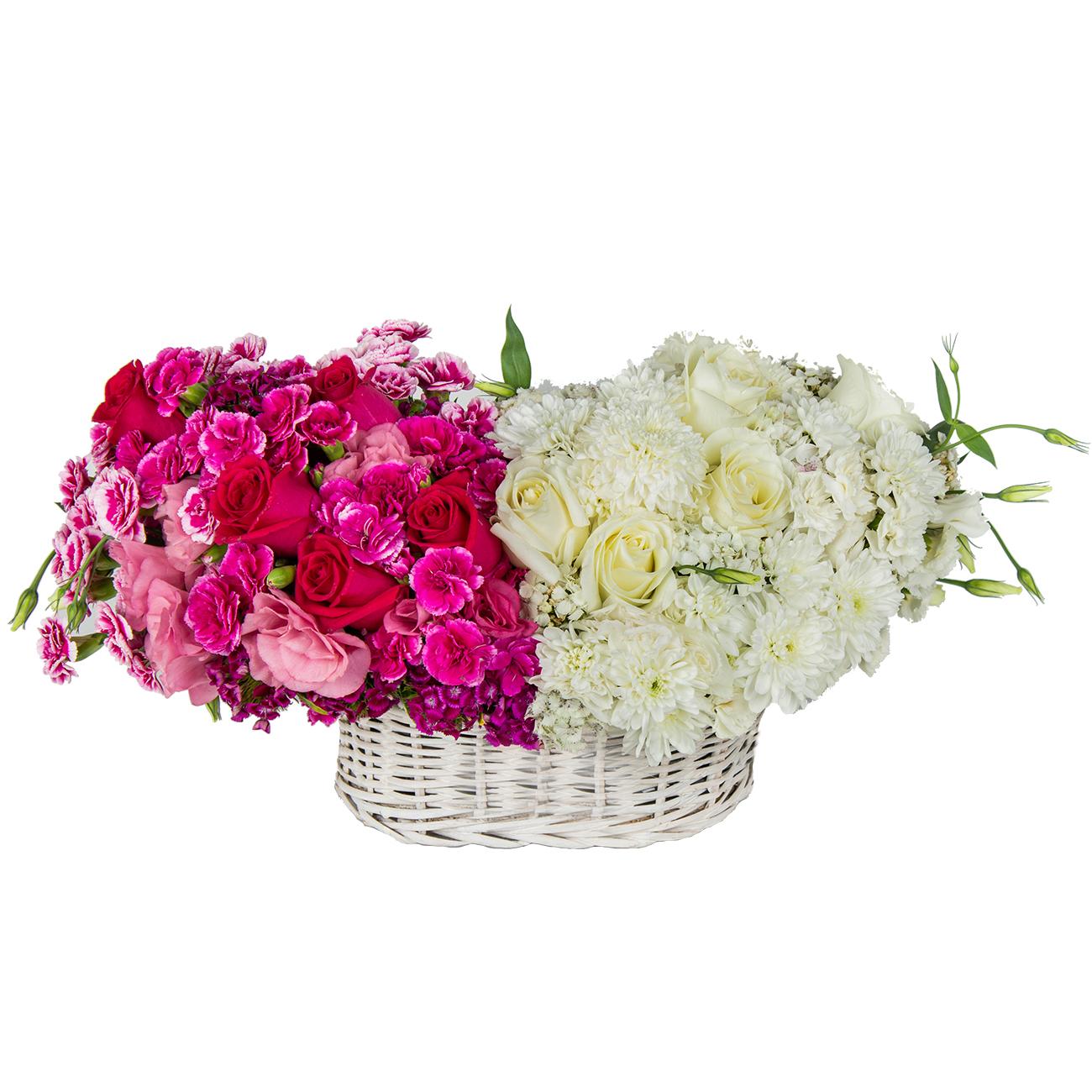 سبد گل طبیعی مدل شفق