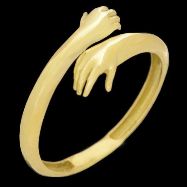 انگشتر طلا 18 عیار زنانه طلای مستجابی مدل 670151