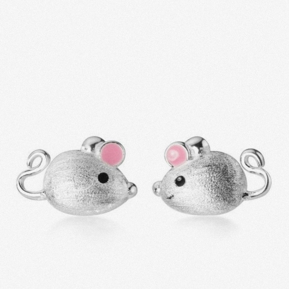 خرید                                      گوشواره نقره زنانه طرح موش