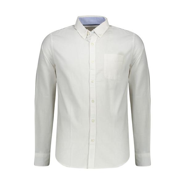 پیراهن آستین بلند مردانه کالینز مدل CL1031345-WHT