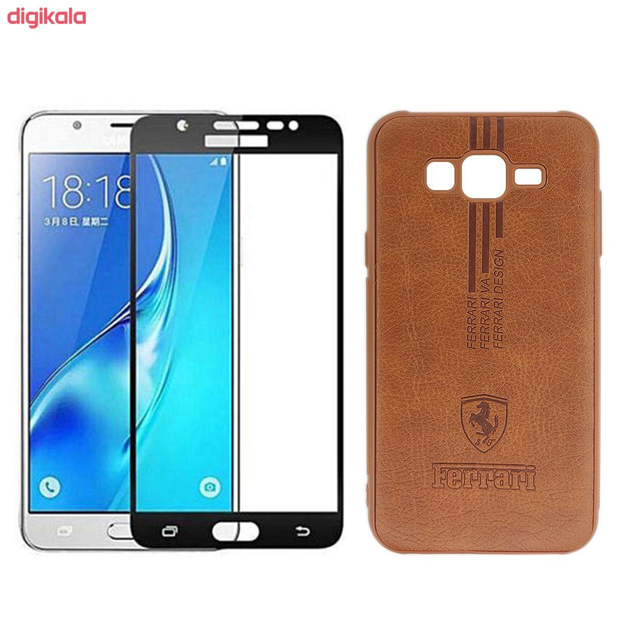کاور نیکلا مدل N9_FRE مناسب برای گوشی موبایل سامسونگ Galaxy J7 2015 به همراه محافظ صفحه نمایش