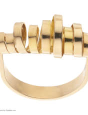 انگشتر طلا 18 عیار زنانه سنجاق مدل X068337 -  - 2
