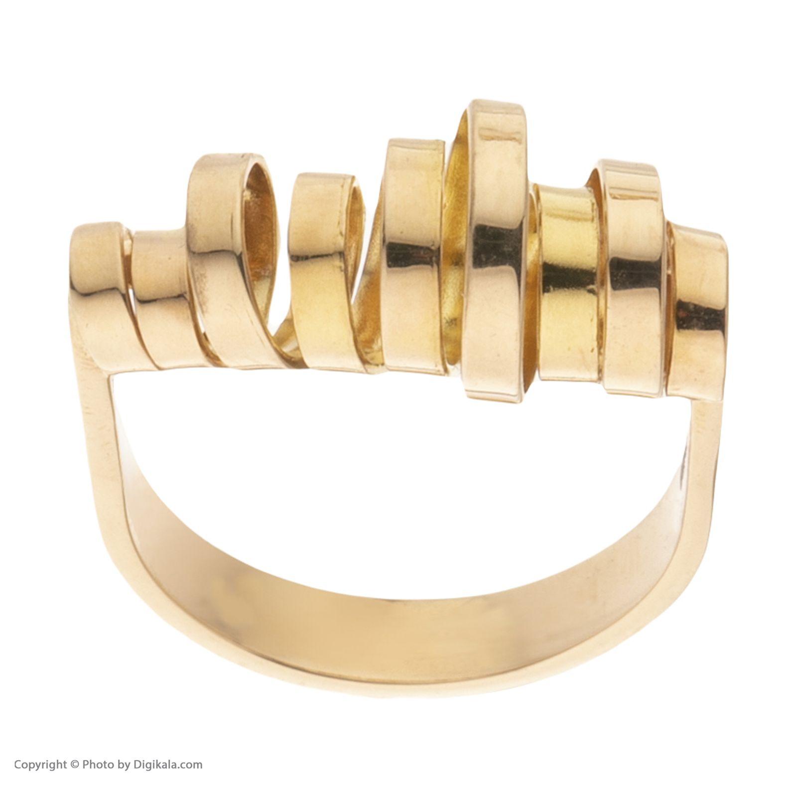 انگشتر طلا 18 عیار زنانه سنجاق مدل X068337 -  - 3