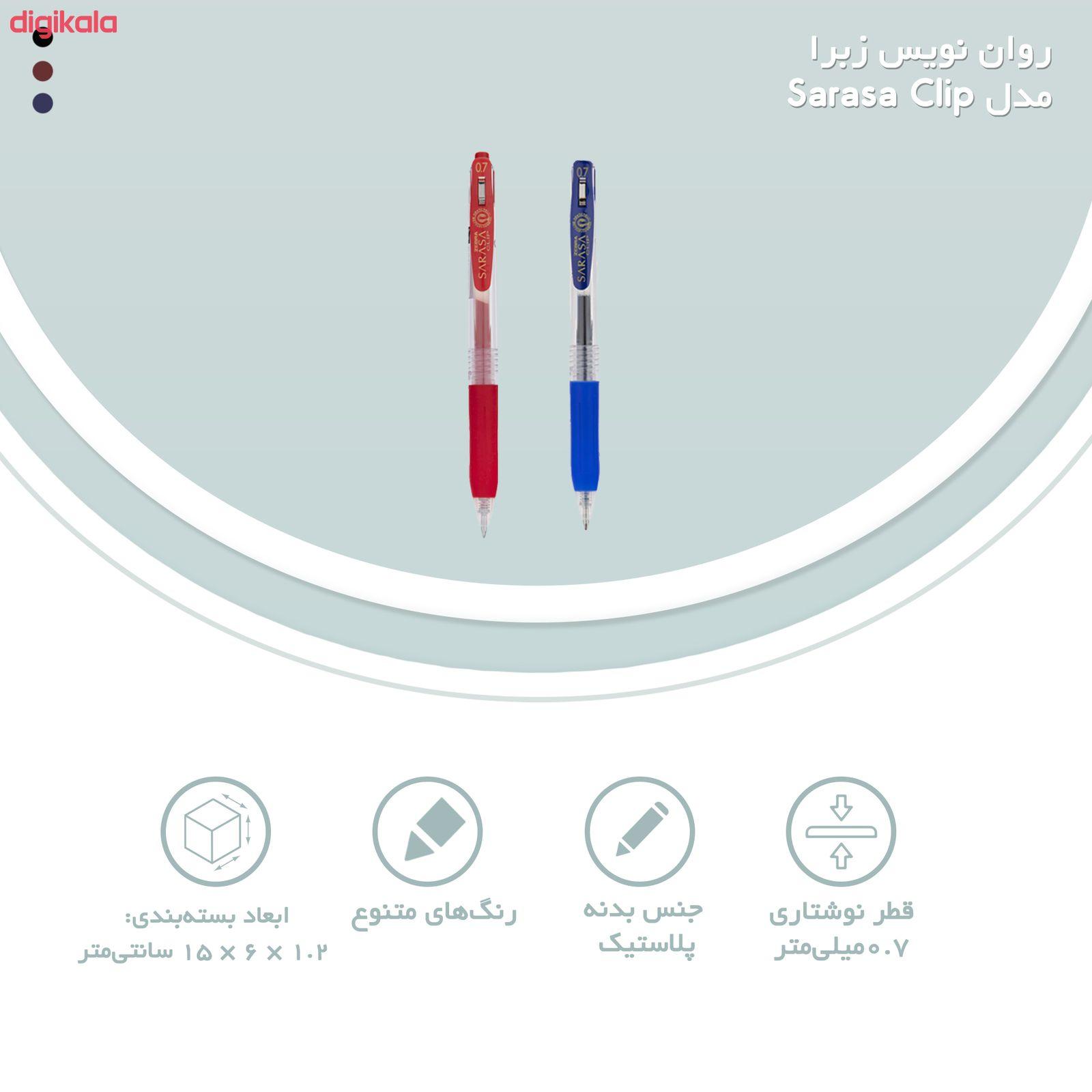 روان نویس زبرا مدل Sarasa Clip با قطر نوشتاری 0.7 main 1 24
