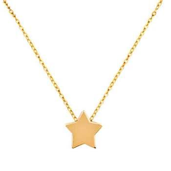 گردنبند طلا 18 عیار زنانهگالری مرجانطرح ستاره کد 0923