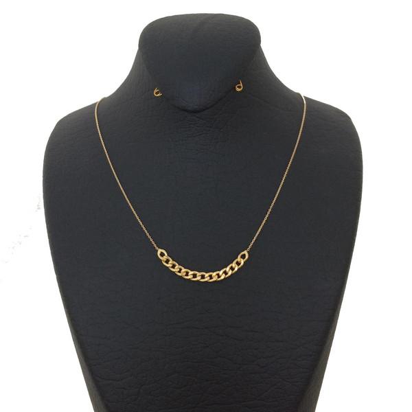 گردنبند طلا 18 عیار زنانه گالری مرجان مدل 1004