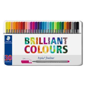 روان نویس استدلر کد 334M30 مدل Triplus Fineliner Brilliant Colours بسته 30 عددی