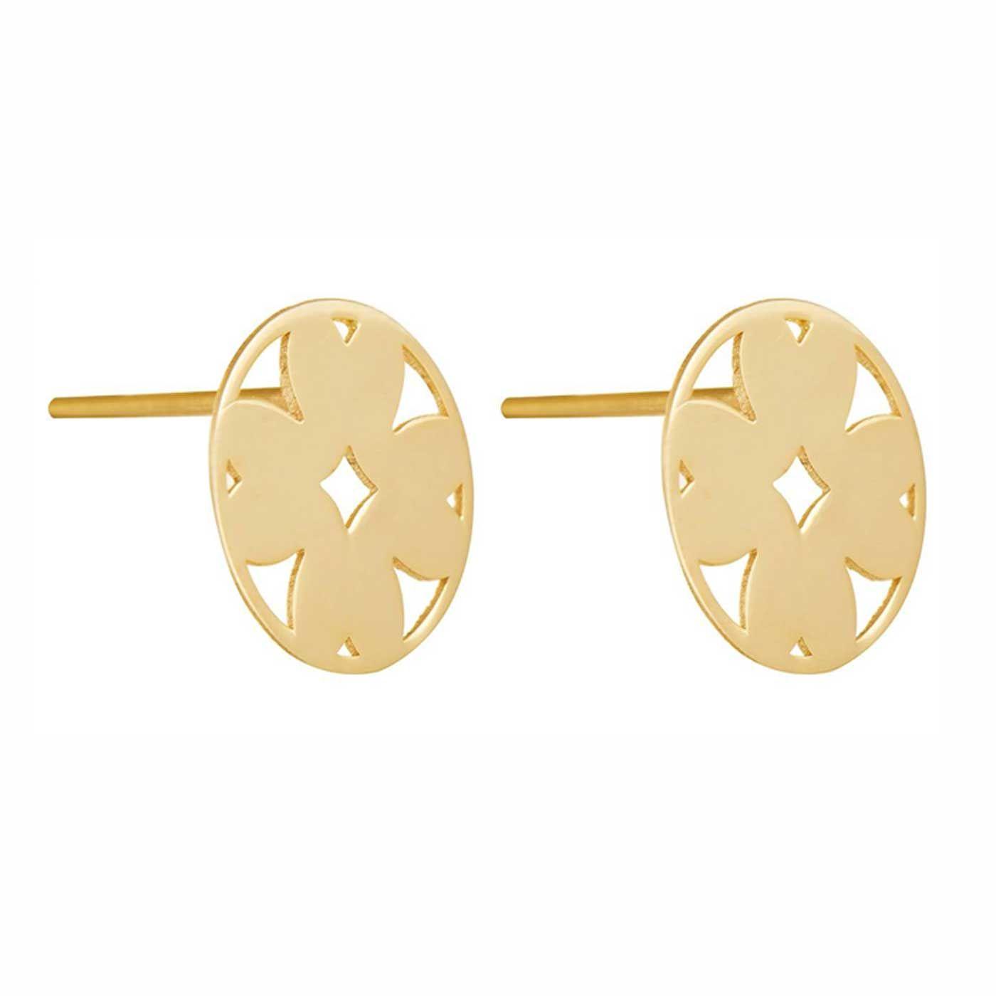 گوشواره طلا 18 عیار زنانه کانیار گالری کد GOA114 -  - 4