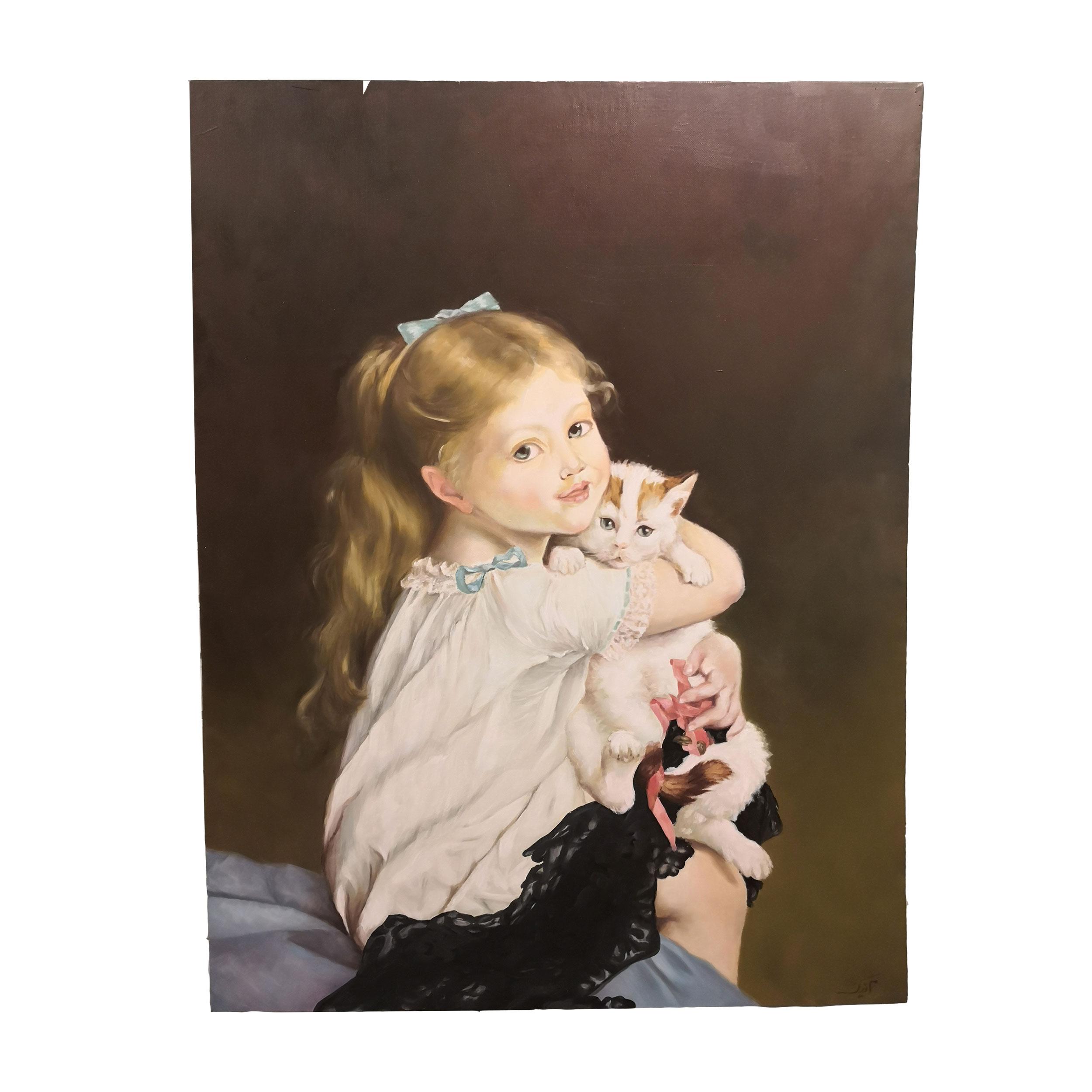 تابلو نقاشی طرح دختر کد B1005
