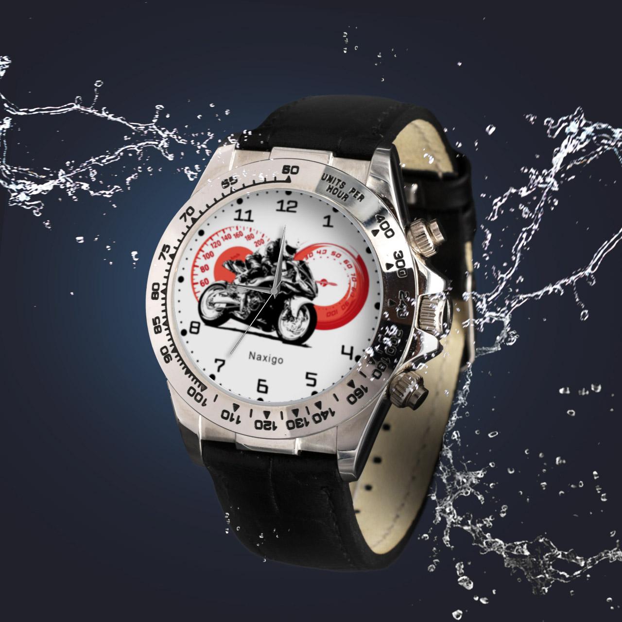 ساعت مچی  مردانه ناکسیگو طرح موتورسواری کد LS3536