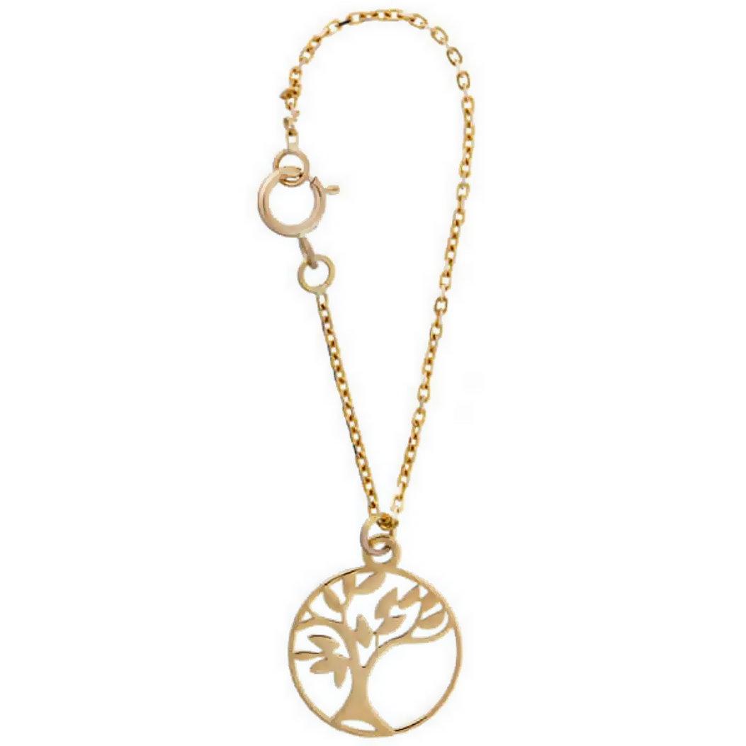آویز ساعت طلا 18 عیار زنانه آمانژ طرح درخت کد 1253D9177