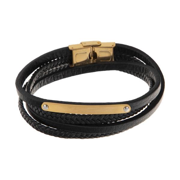 دستبند مردانه گالری شمرون مدل BNG334G0