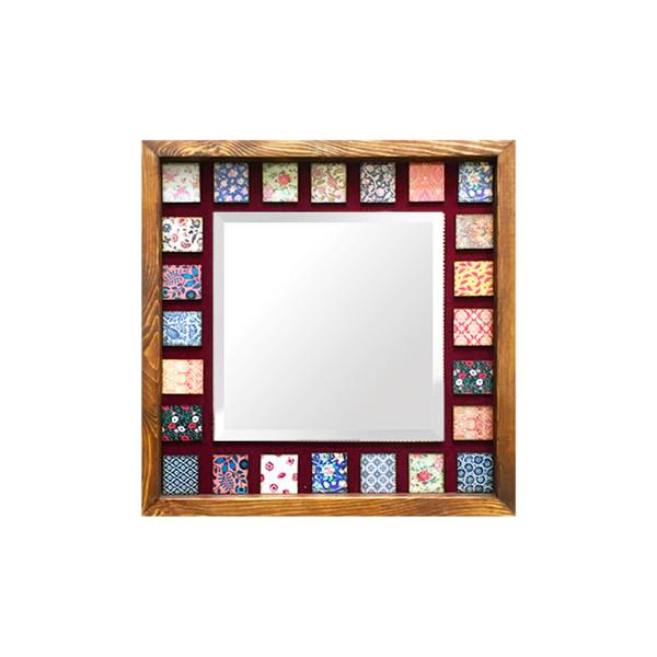 آینه چوبی مدل دکوراتیو کد H37