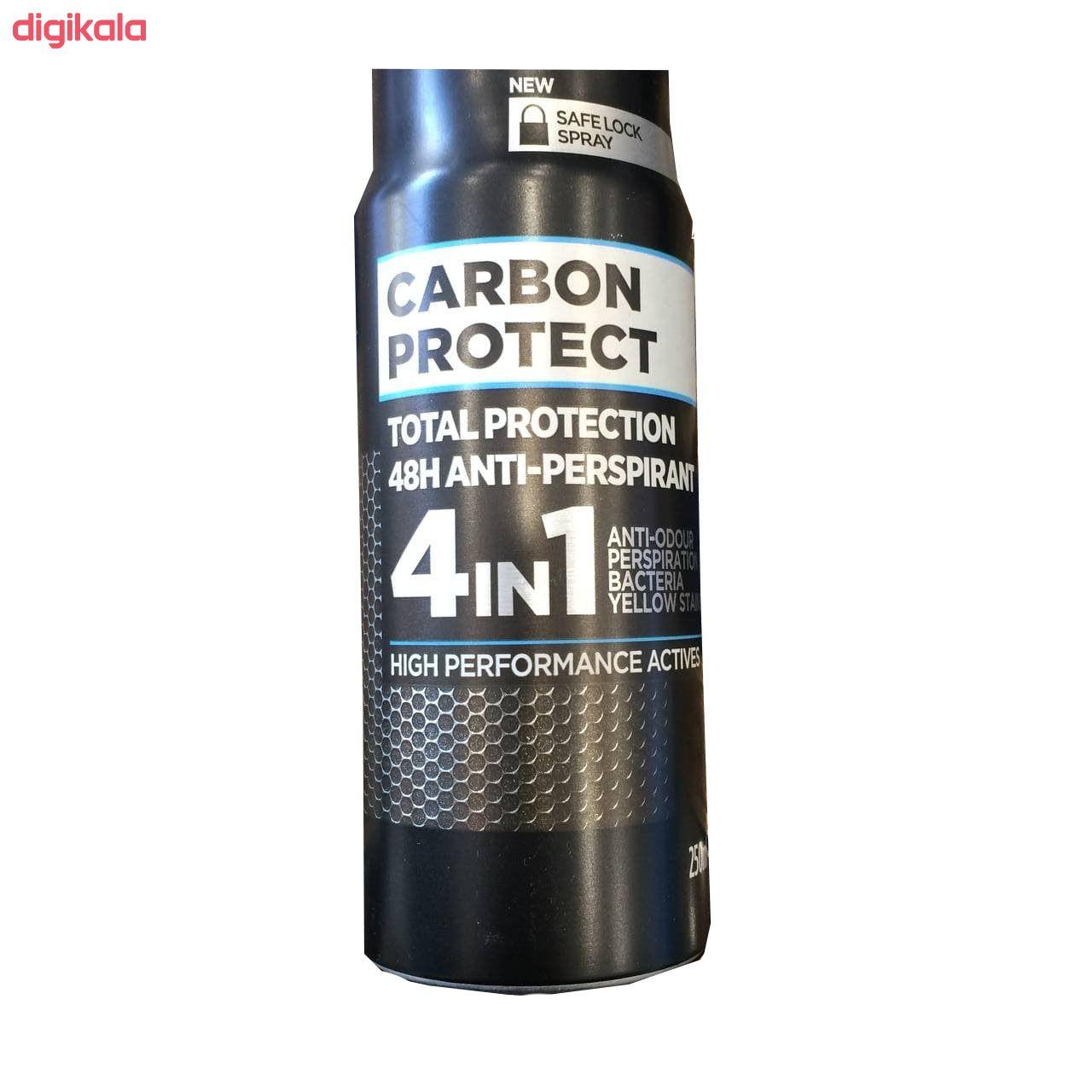 اسپری خوشبو کننده بدن مردانه لورآل مدل carbon protect new حجم 250 میلی لیتر main 1 1