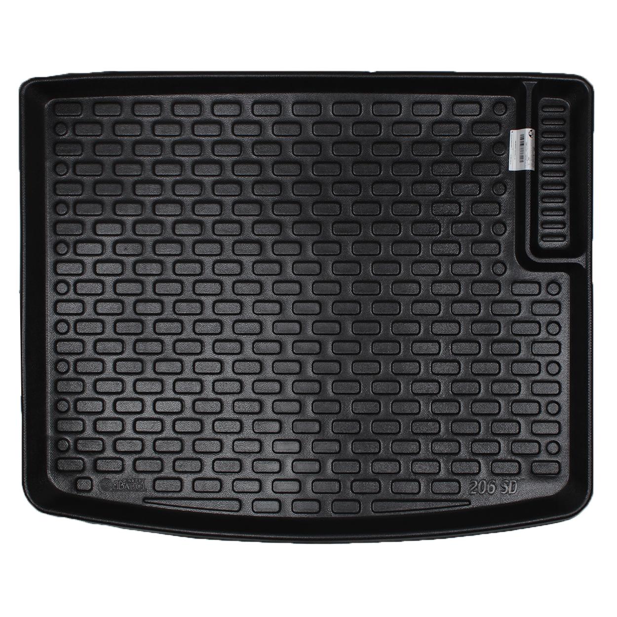 کف پوش سه بعدی صندوق خودرو بابل مدل pl3031 مناسب برای پژو 206 SD  صندوق دار طرح 1