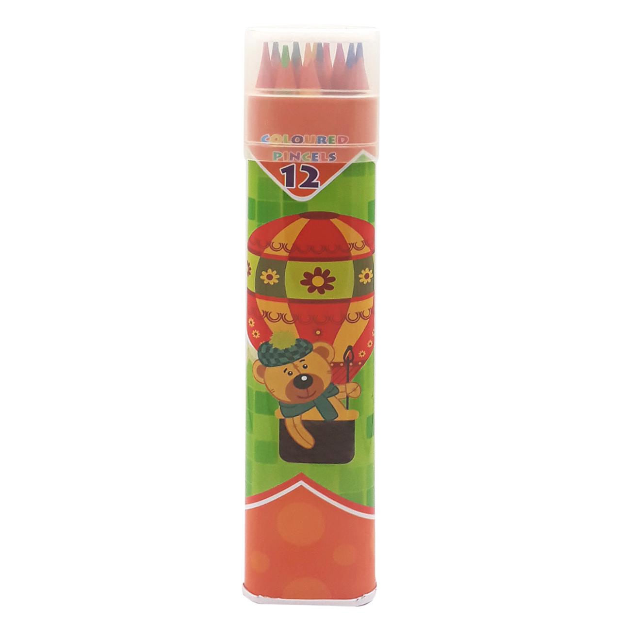 مداد رنگی 12 رنگ اسکول مکس مدل AF1