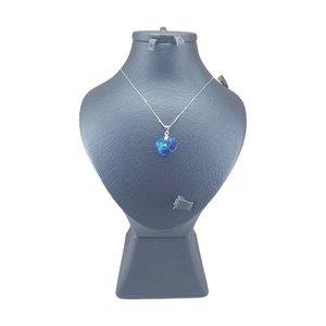 گردنبند نقره زنانه سواروسکی مدل قلب کد 8