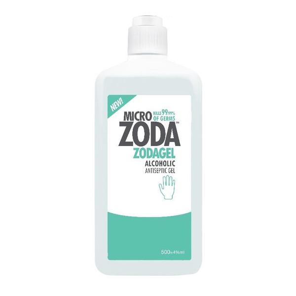 ژل ضدعفونی کننده دست میکروزدا سری ZODAGEL حجم 500 میلیلیتر