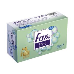 صابون حمام فکس مدل Fresh Perfume وزن 125 گرم بسته 6 عددی
