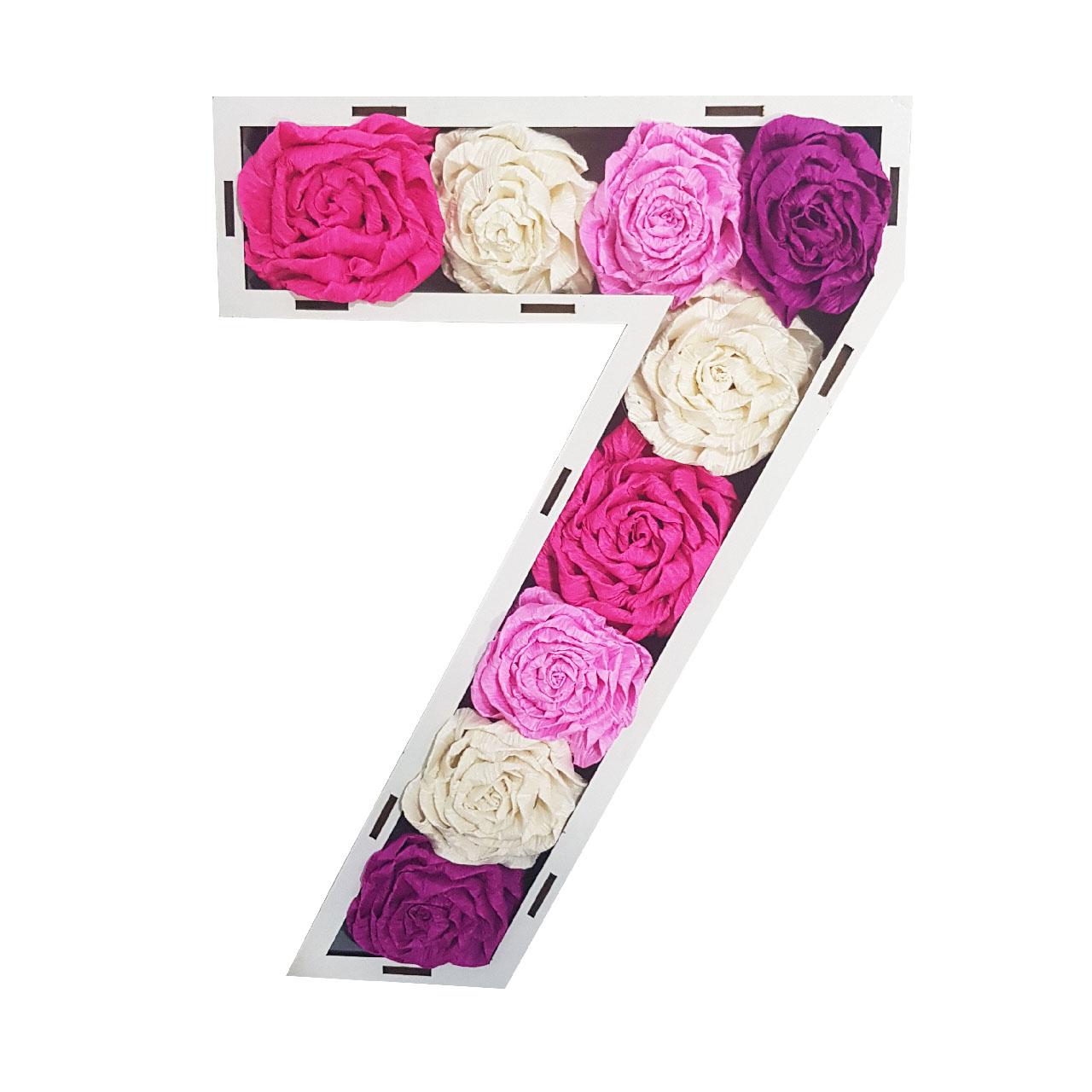 استند گل مصنوعی طرح عدد 7 کد 759