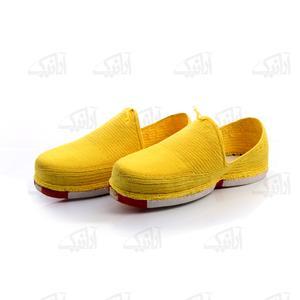 کلاش پنبه ای زرد طرح ساده مدل 1213600007