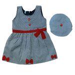 ست پیراهن و کلاه دخترانه مدل A&S7173 thumb
